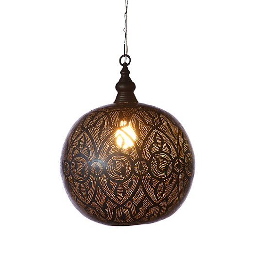 Oxidized Filigree Sphere