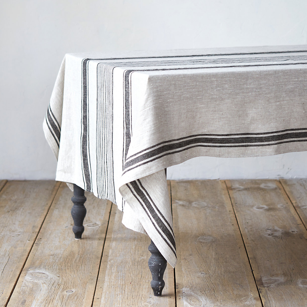 Linen Striped Tablecloth. Loading Zoom