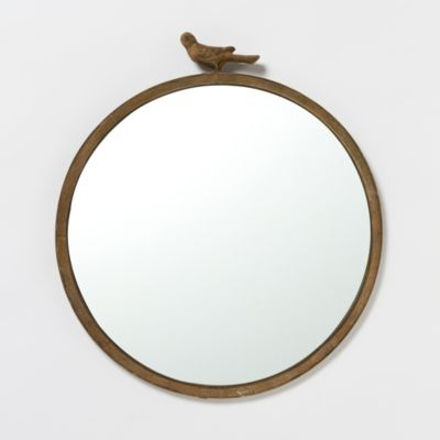 Antiqued Bird Mirror