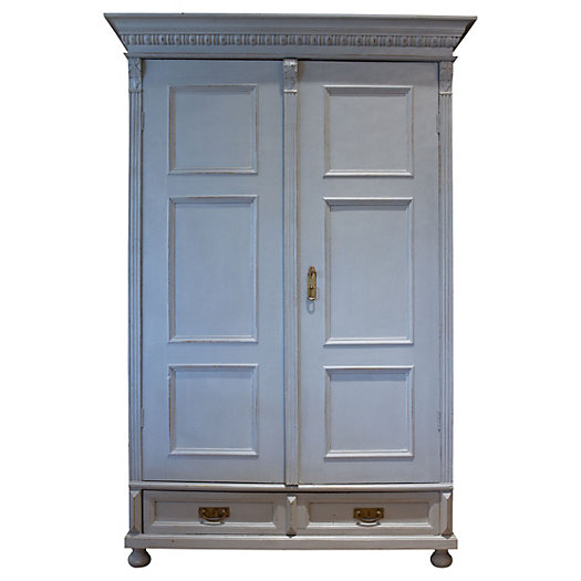 Painted Gray Armoire