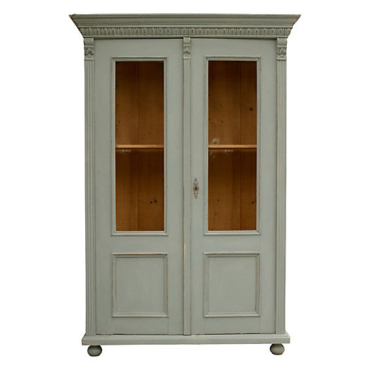 Gray & Glass Cabinet