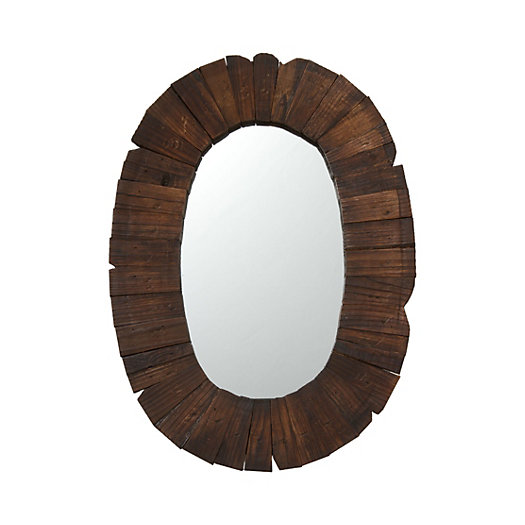 Rustic Oval Mirror