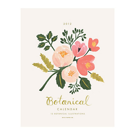 2012 Watercolor Florals Calendar