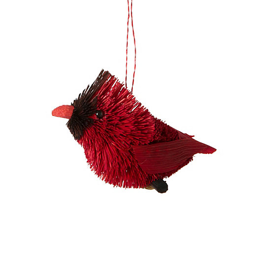 Bristle Brush Cardinal Ornament