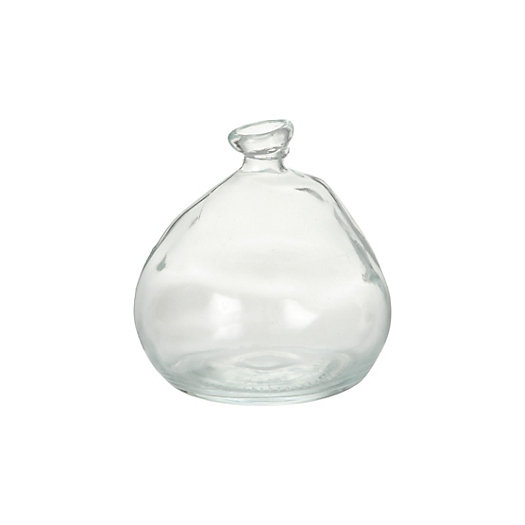 Rounded Recycled Glass Vase