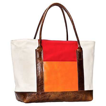 Canvas & Leather Boat Bag
