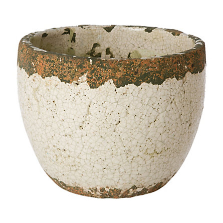 Cracked Glaze Pot