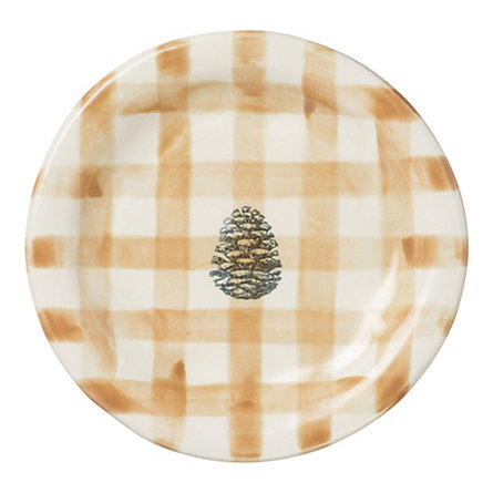 Gingham Pinecone Plate