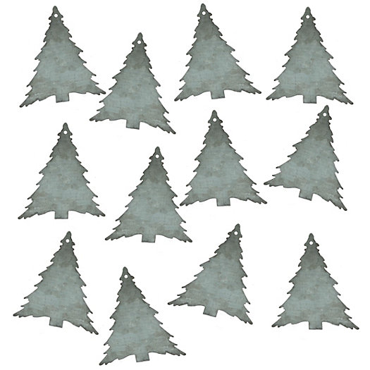 Zinc Christmas Tree Tags