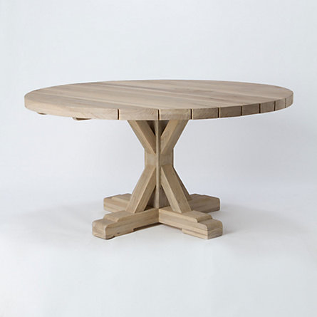 Preserved Teak Dining Table, Round
