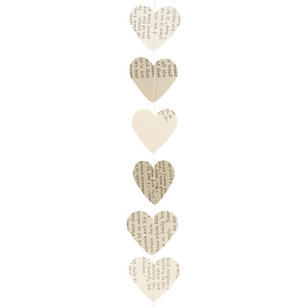 Library Hearts Garland