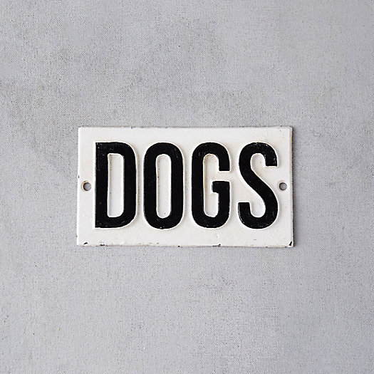 Cast Iron Dogs Sign