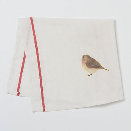Curious Bird Tea Towel