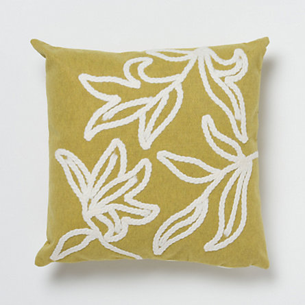 Embroidered Vine Pillow