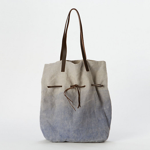 Dip-Dyed Linen Tote