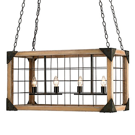 Wire Crate Chandelier