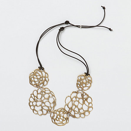 Bronze Lace Bib Necklace