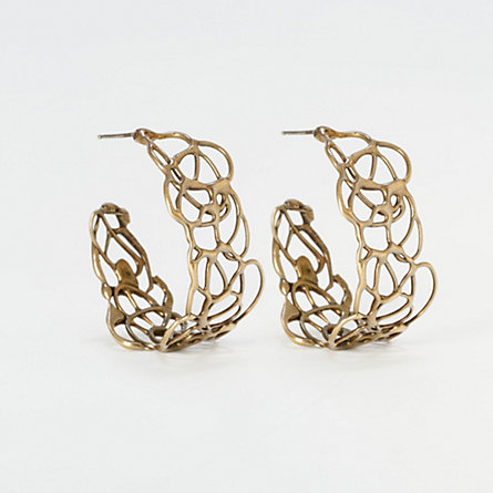 Bronze Lace Hoops