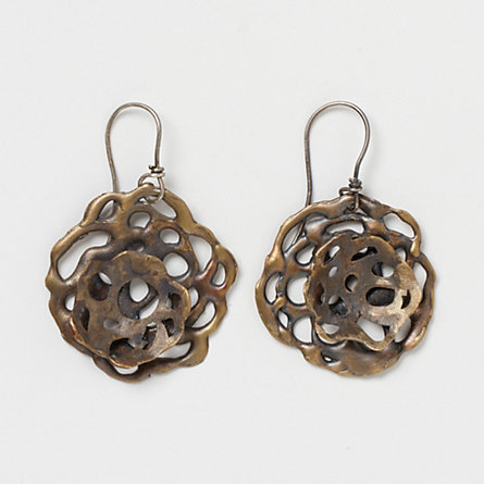 Bronze Lace Earrings