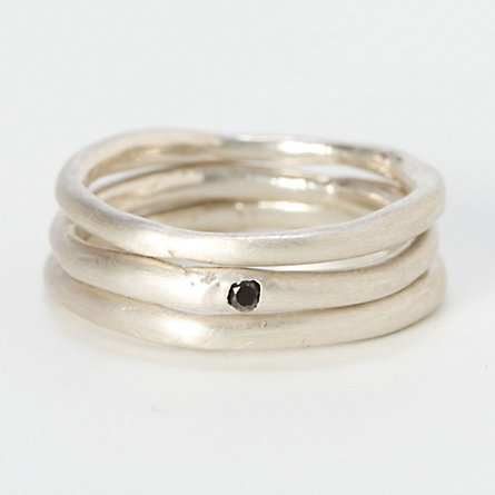 Stacked Stud Rings
