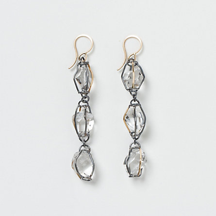 Herkimer Diamond Stream Earrings