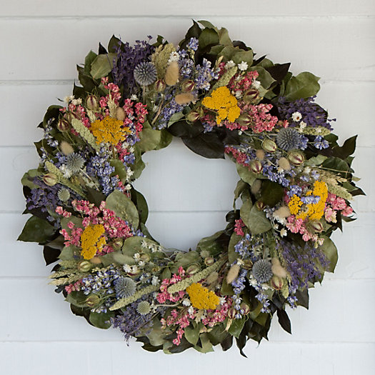 Lavender Flowers Wreath