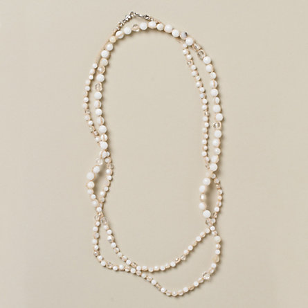 Simple Stones Necklace, Pearl