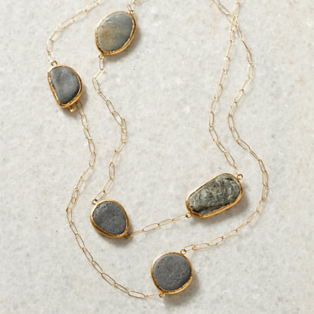 Trailing River Rock Necklace