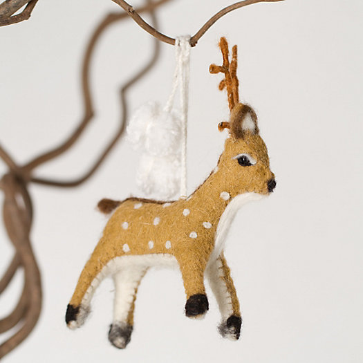 Felted Deer Ornament