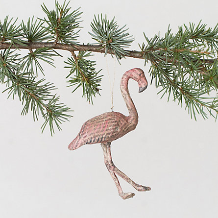 Newsworthy Flamingo Ornament