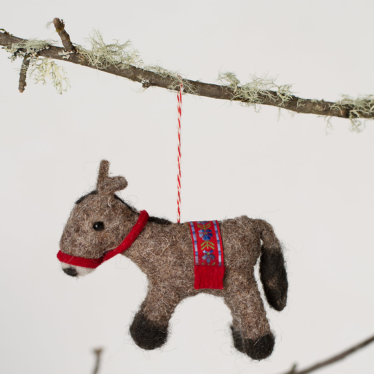 Donkey ornaments - Felt Donkey Ornament Loading Zoom
