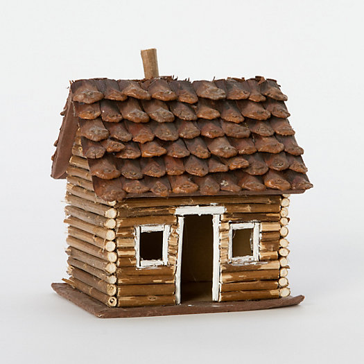Pinecone Log Cabin