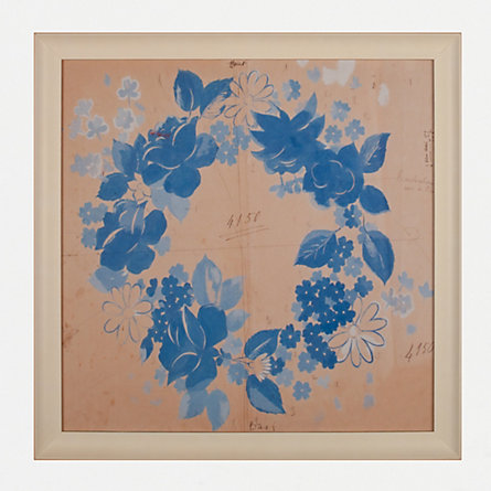 Framed Petit Blue Wreath