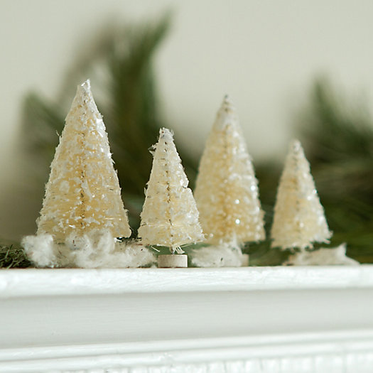Frosted Fir Tree Set