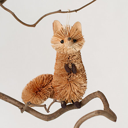 Bushy Red Fox Ornament