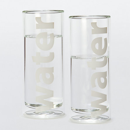 Descriptive Water Glass