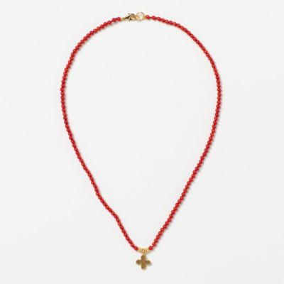 Coral Crux Necklace
