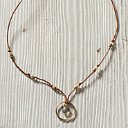Circle & Stone Necklace