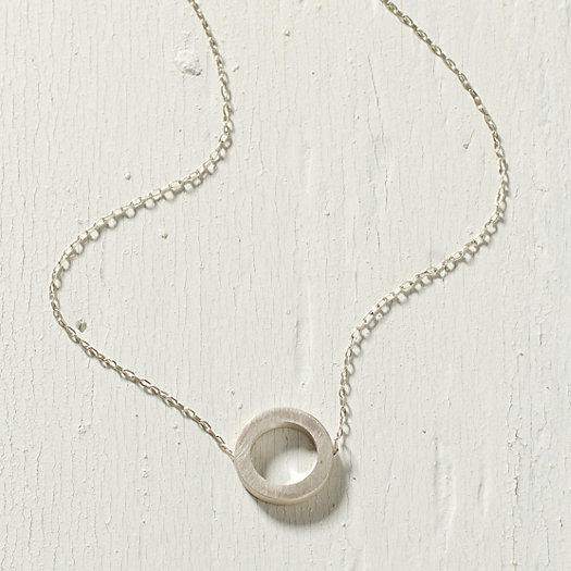 Concrete Ring Necklace