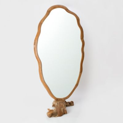 Freeform Teakwood Mirror