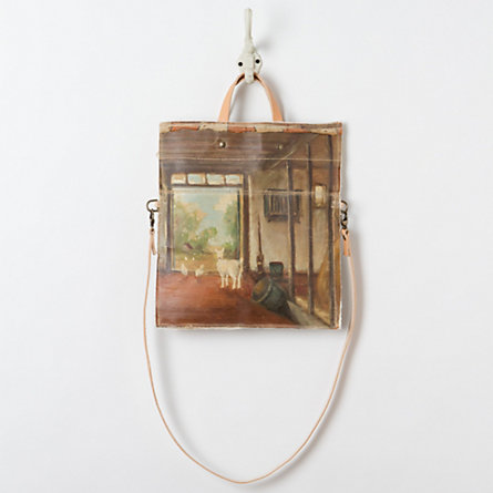 Goat Barn Vintage Painting Bag