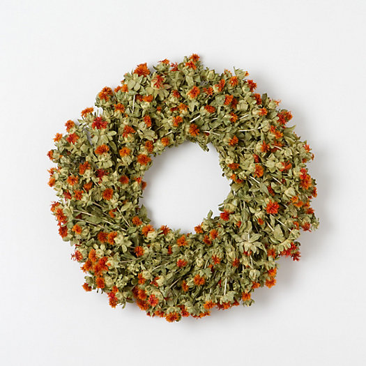 Safflower Wreath