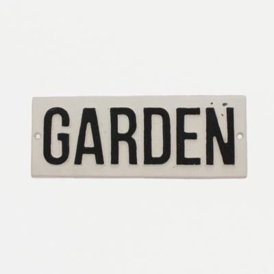 Cast Iron Garden Sign