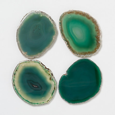 Agate Earth Coasters