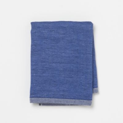 Split-Shade Chambray Washcloth