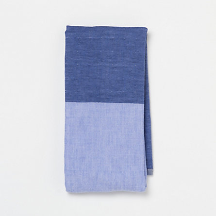 Split-Shade Chambray Hand Towel