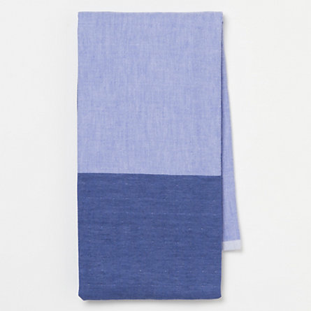 Split-Shade Chambray Bath Towel