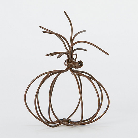 Wire Pumpkin Place Card Holder