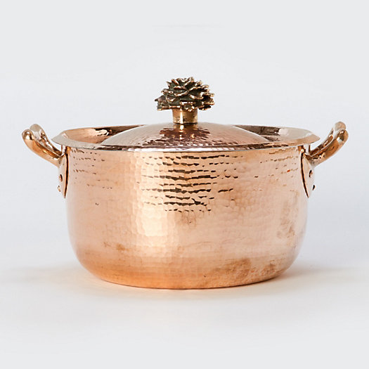 Hand-Hammered Copper Saucepan