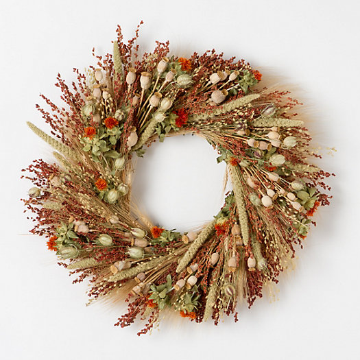 Safflower Birdfeeder Wreath